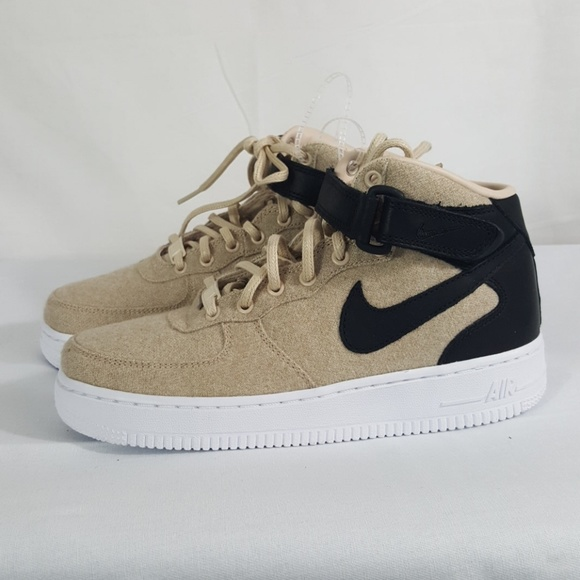 Nike 1 Air Wool Leather Mid Nwt Premium Shoe Force H2IWYED9